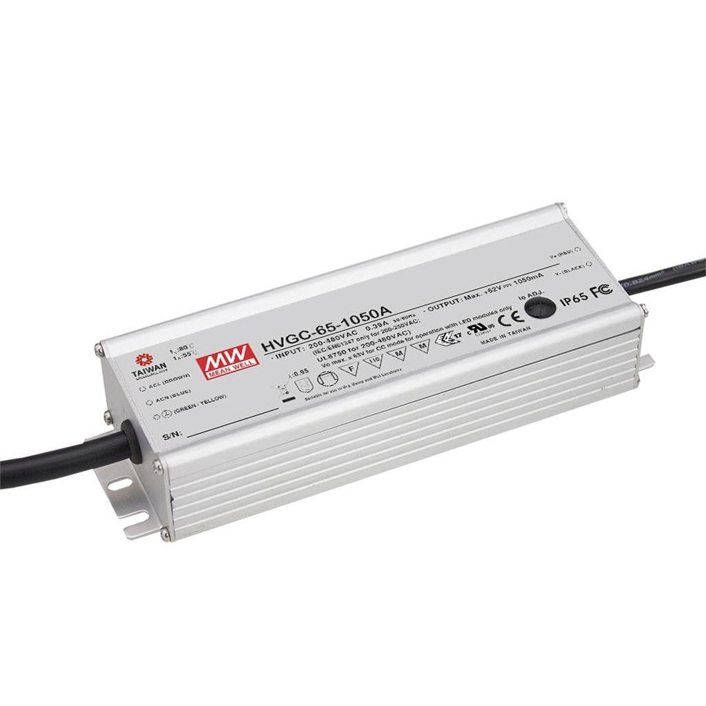 Mean Well HVGC-65-700B AC/DC C.C.  Box Type - Enclosed 93V 0.7A Single output LED driver