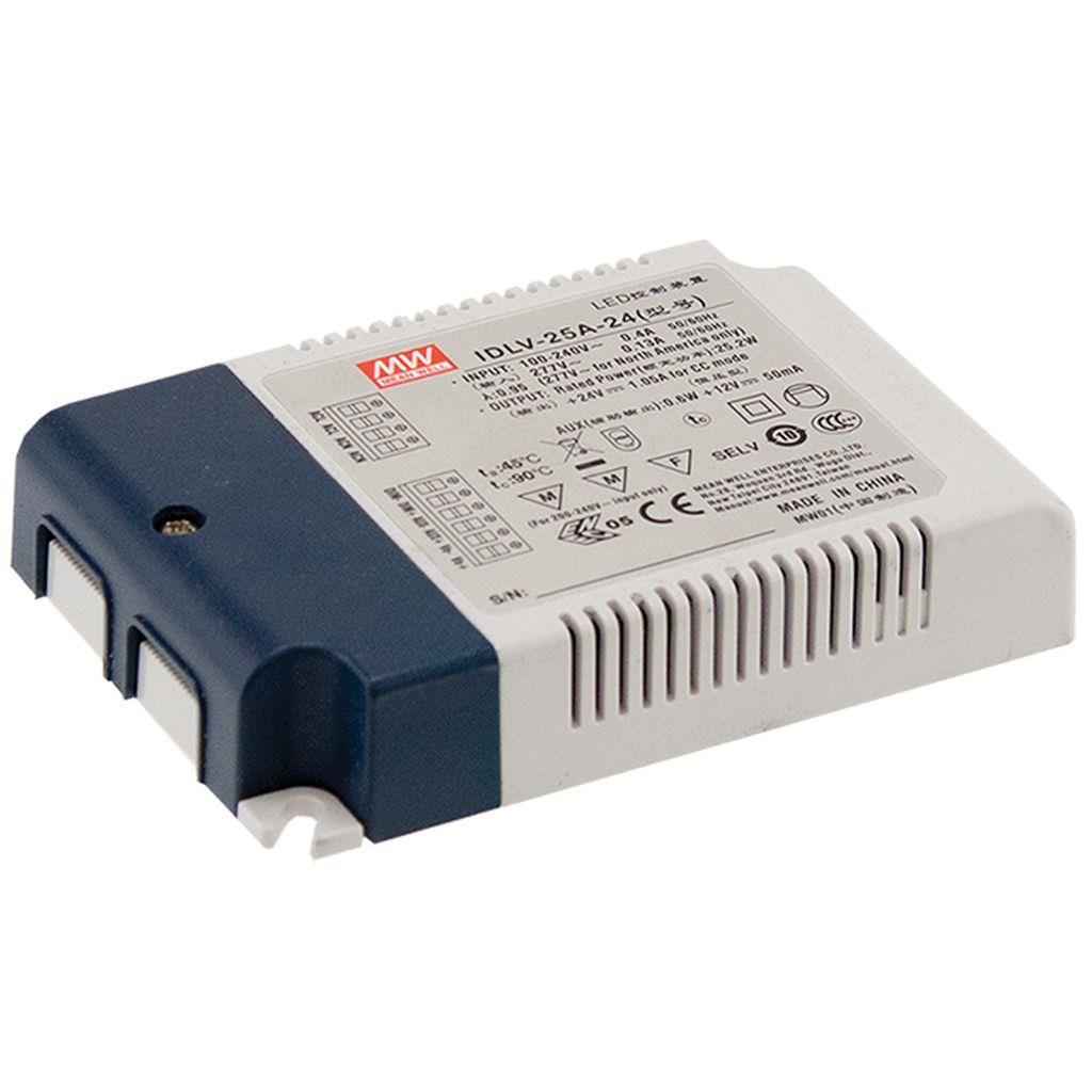 Mean Well IDLV-25-24 AC/DC C.V. Box Type - Enclosed 24V 1.05A LED Driver