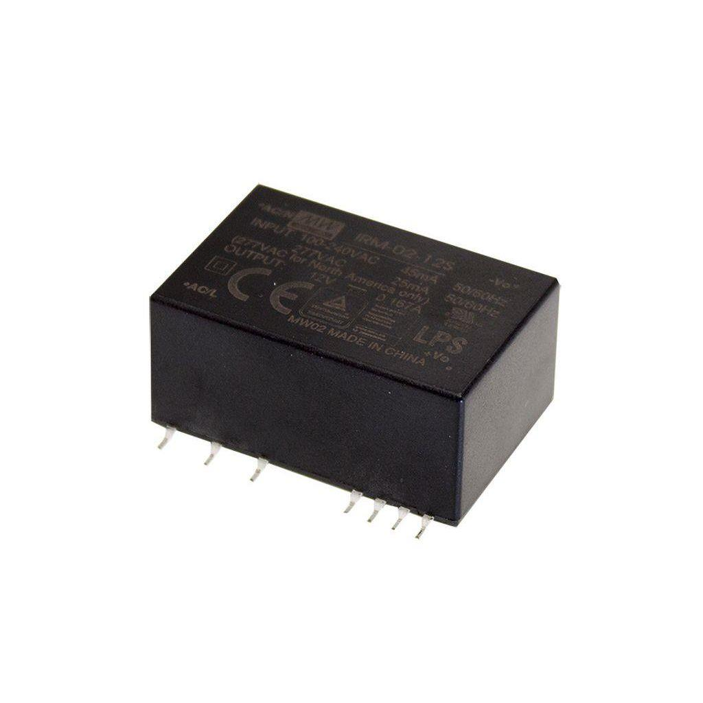 Mean Well IRM-02-5S AC/DC PCB Mount - SMD 5V 0.4A Power Supply