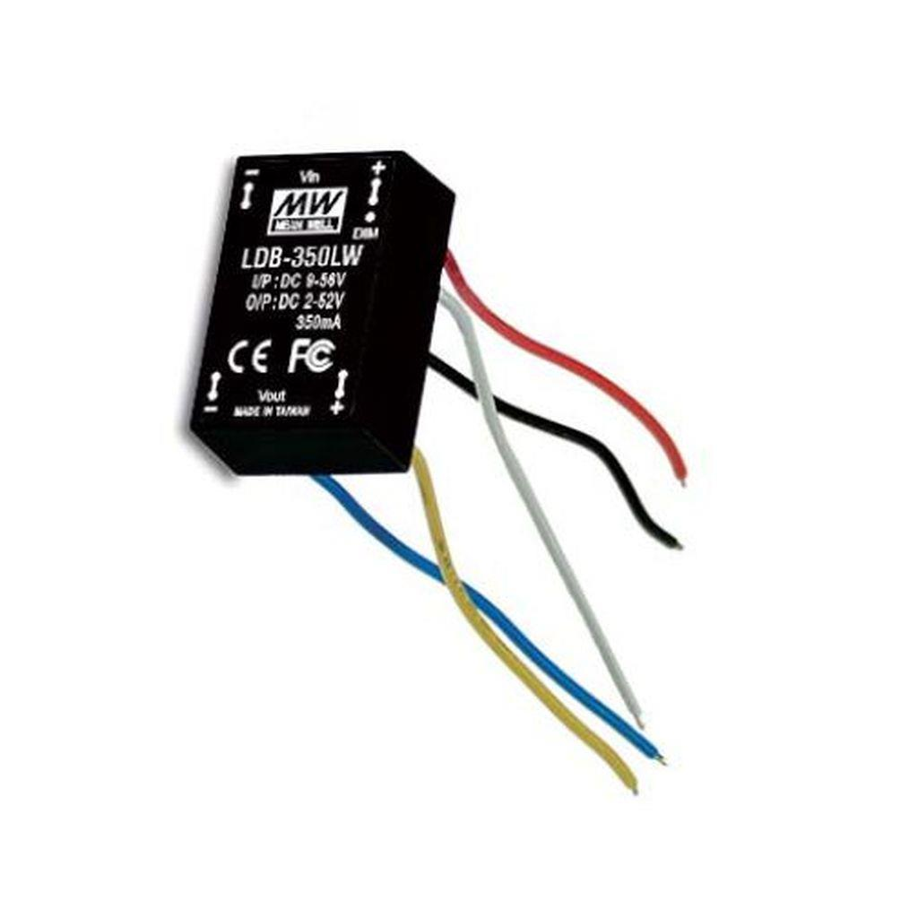Mean Well LDB-600LW DC/DC C.C. Box Type - Enclosed 30V 0.6A Buck-Boost LED Driver