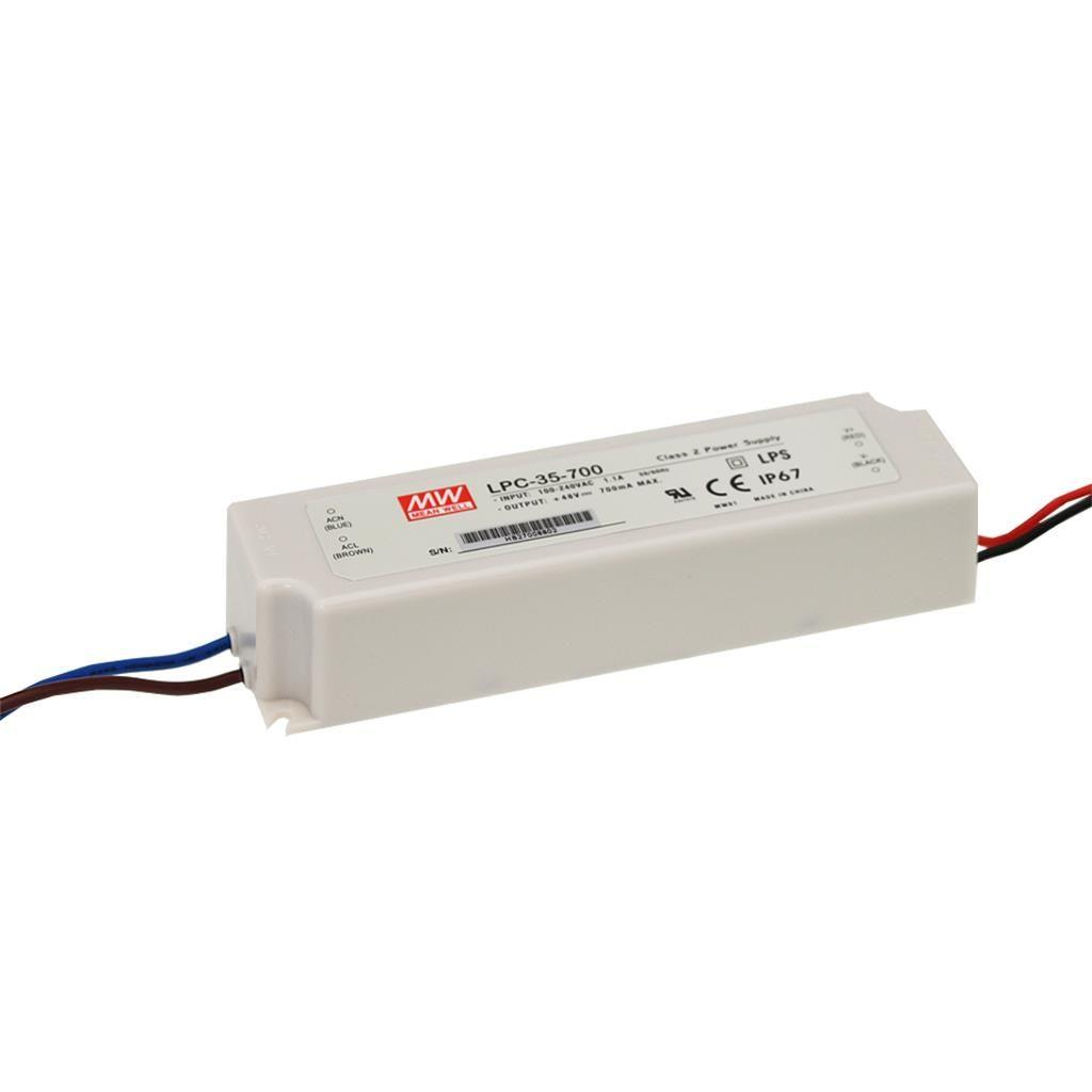 Mean Well LPC-35-1400 AC/DC C.C. Box Type - Enclosed 24V 1.4A Single output LED driver