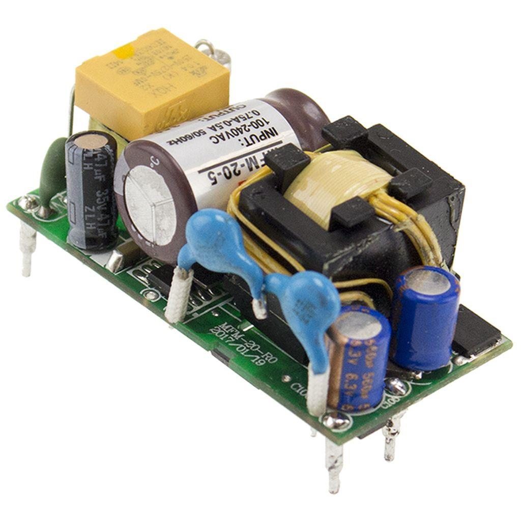 Mean Well MFM-20-15 AC/DC Open Frame - PCB 15V 1.4A Power Supply