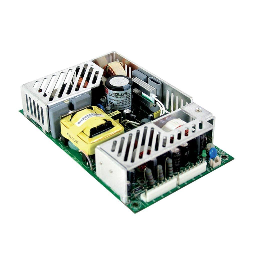 Mean Well MPT-200C AC/DC Open Frame - PCB 5V 24A Medical Power Supply