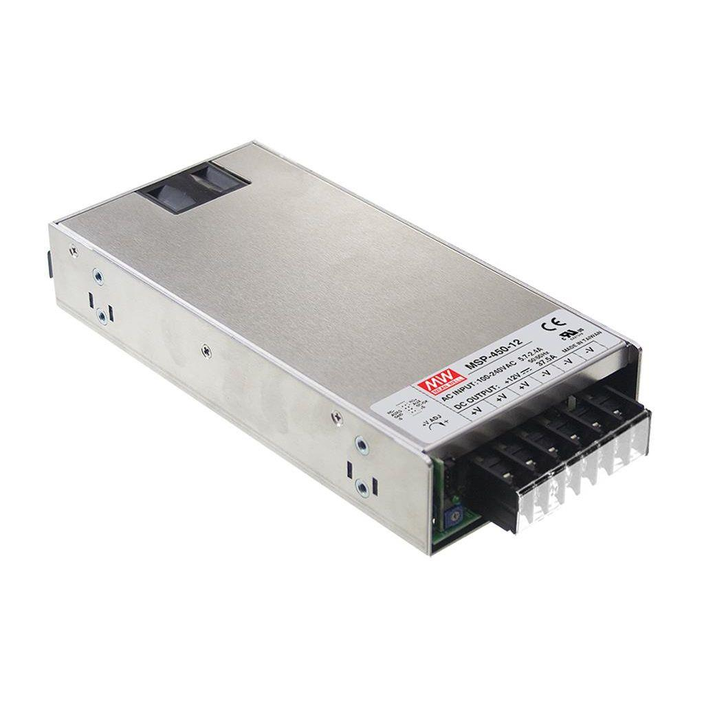Mean Well MSP-450-12 AC/DC Box Type - Enclosed 12V 37.5A Power Supply