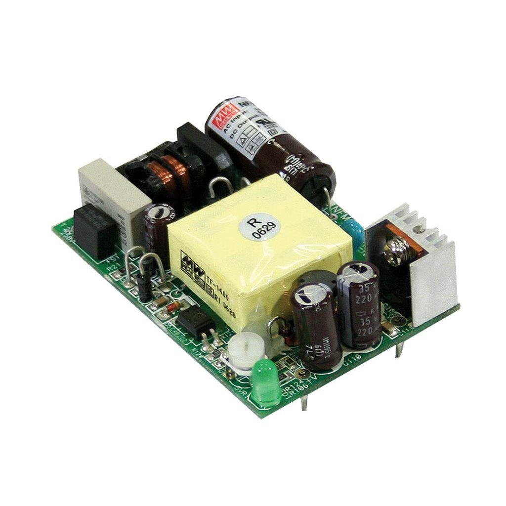 Mean Well NFM-15-5 AC/DC Open Frame - PCB 5V 3A Power Supply