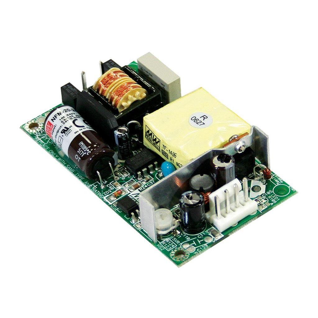 Mean Well NFM-20-12 AC/DC Open Frame - PCB 12V 1.8A Power Supply