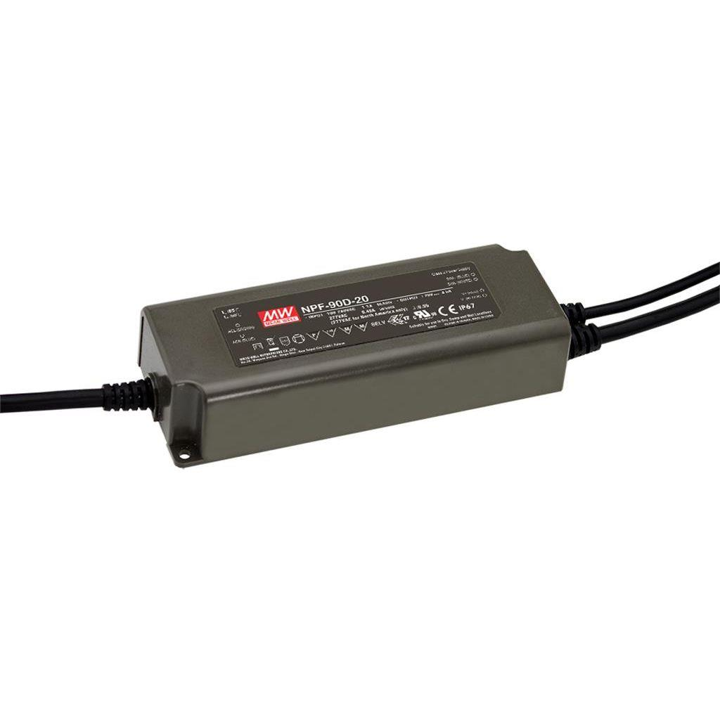Mean Well NPF-90D-15 AC/DC C.C. Box Type - Enclosed 15V 6A Single output LED driver