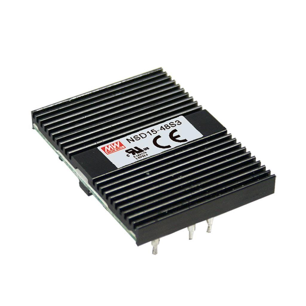 Mean Well NSD15-12S3 DC/DC Open Frame - PCB 3.3V 3.75A Converter