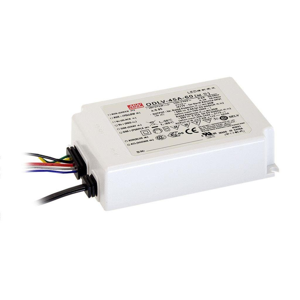 Mean Well ODLV-45-60 AC/DC C.V. Box Type - Enclosed 60V 0.75A LED Driver