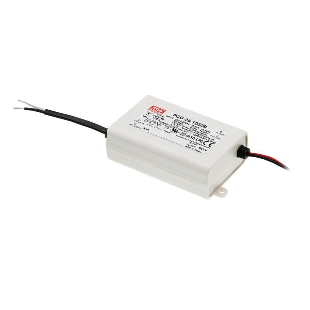 Mean Well PCD-25-350B AC/DC C.C.  Box Type - Enclosed 58V 0.35A Single output LED driver