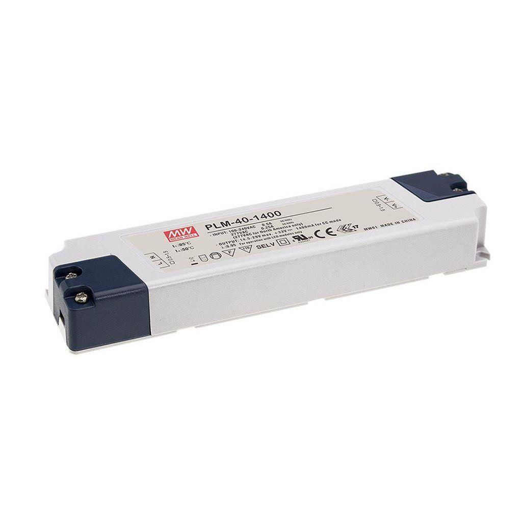 Mean Well PLM-40E-1400 AC/DC C.C. Box Type - Enclosed 29V 1.4A Single output LED driver