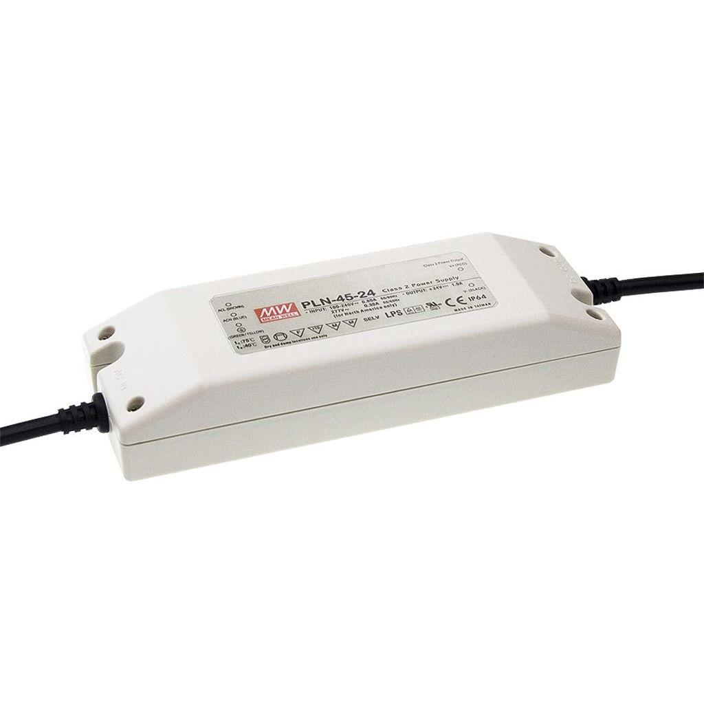 Mean Well PLN-45-27 AC/DC C.C. Box Type - Enclosed 27V 1.3A Single output LED driver
