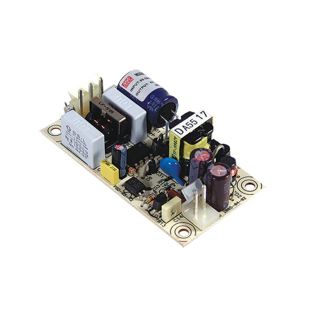 Mean Well PS-05-24 AC/DC Open Frame - PCB 24V 0.22A Power Supply
