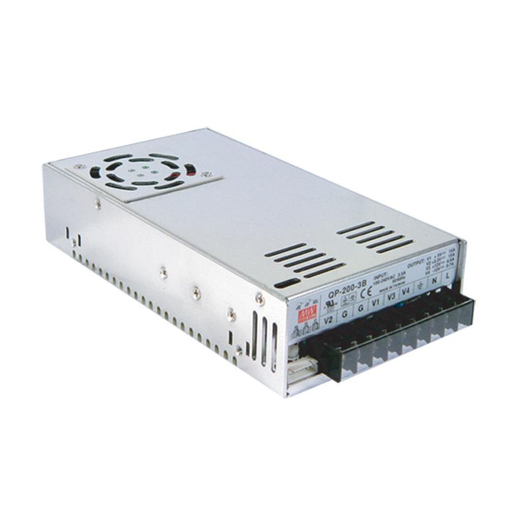 Mean Well QP-200-3E AC/DC Box Type - Enclosed 5V 20A Power Supply