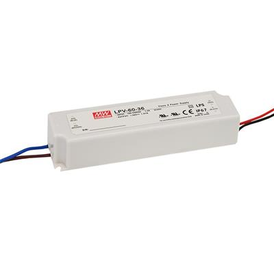Mean Well LPV-60-15 AC/DC C.V. Box Type - Enclosed 15V 4A Single output LED driver