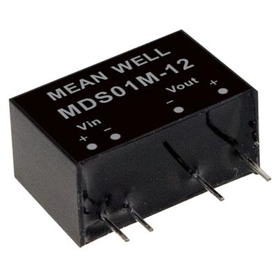 Mean Well MDS01N-05 DC/DC PCB Mount - Through Hole 5V 0.2A medical Converter